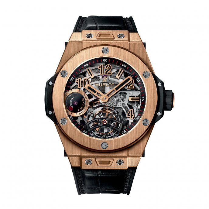 Hublot Big Bang Tourbillon Indicateur Reserve de Marche 5 Jours 405.ox.0138.lr watch face view
