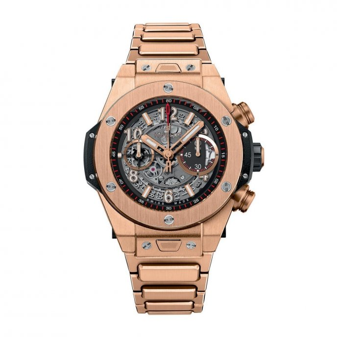 hublot Big Bang Unico King Gold Bracelet 411.OX.1180.OX Watch Face View
