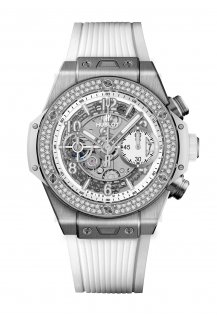 Big Bang Unico Titanium White Diamonds