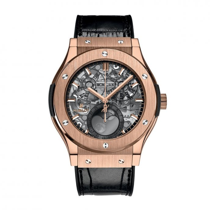 Hublot Classic Fusion Aeromoon 517.OX.0180.LR Watch Face View