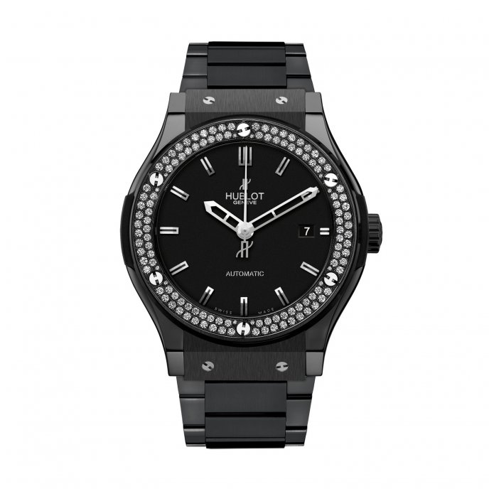 Hublot-Classic Fusion-Black Magic Diamonds Bracelet-511.CM.1170.CM.1104