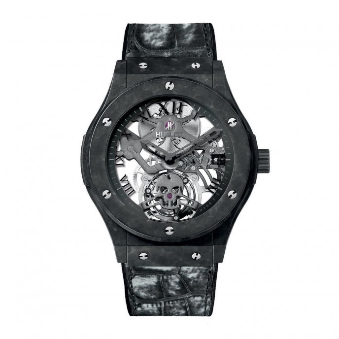 Hublot Classic Fusion Tourbillon Skull 505.UC.0140.LR.SKULL Watch-face-view