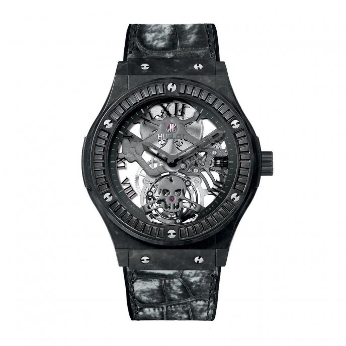 Hublot Classic Fusion Tourbillon Skull 505.UC.0140.LR.1900.SKULL - watch face view