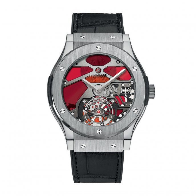 Hublot Classic Fusion Tourbillon Vitrail  502.NX.0001.LR Watch-face-view