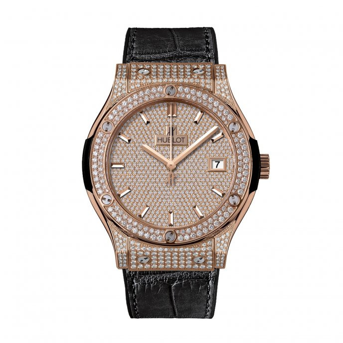 Hublot-Classic Fusion-King Gold Full Pave-511.OX.9010.LR.1704