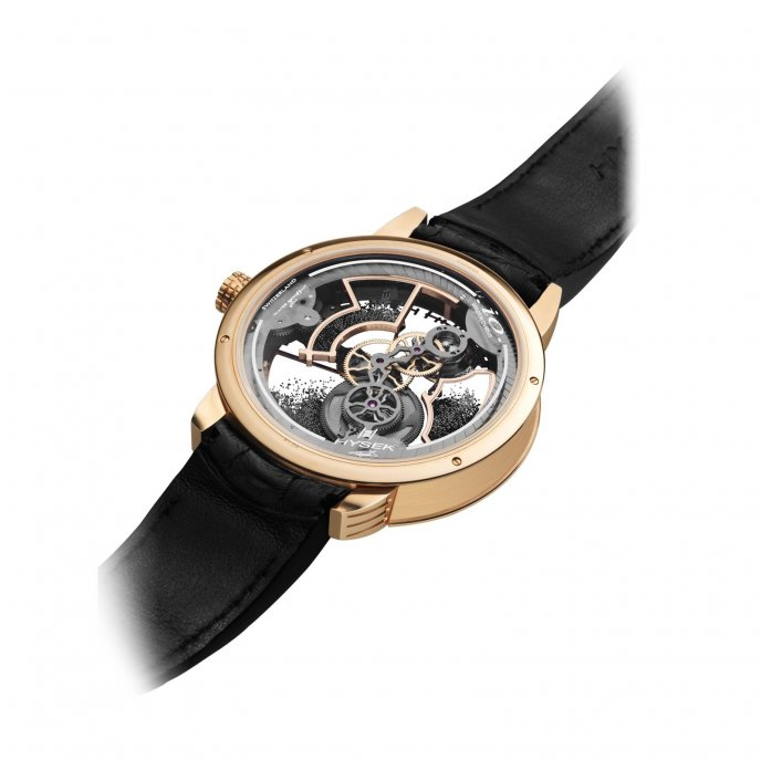 Hysek Io 49mm Tourbillon Squelette Poussière de Diamants watch-back-view