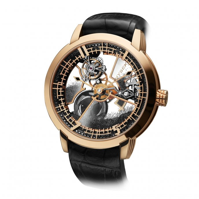 Hysek Io 49mm Tourbillon Squelette Poussière de Diamants watch-face-view