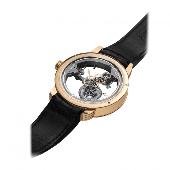 Hysek IO 49mm Tourbillon Squelette watch-back-view