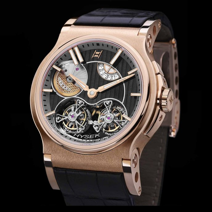 Hysek-Verdict-Double-Tourbillon-or-rose-face-view