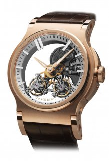 Verdict 46mm Automatic Skeleton Double Tourbillon