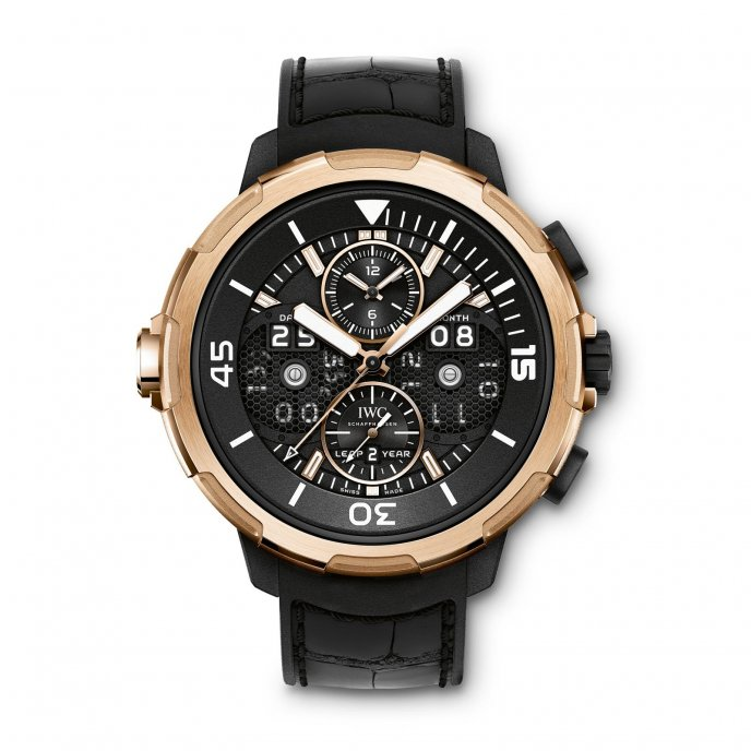IWC Aquatimer Calendrier perpétuel Digital Date et Mois IW379401 watch-face-view