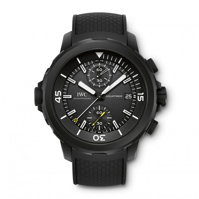 "IWC Aquatimer Chronograph Edition ""Galapagos Islands"" IW379502 - watch face view"