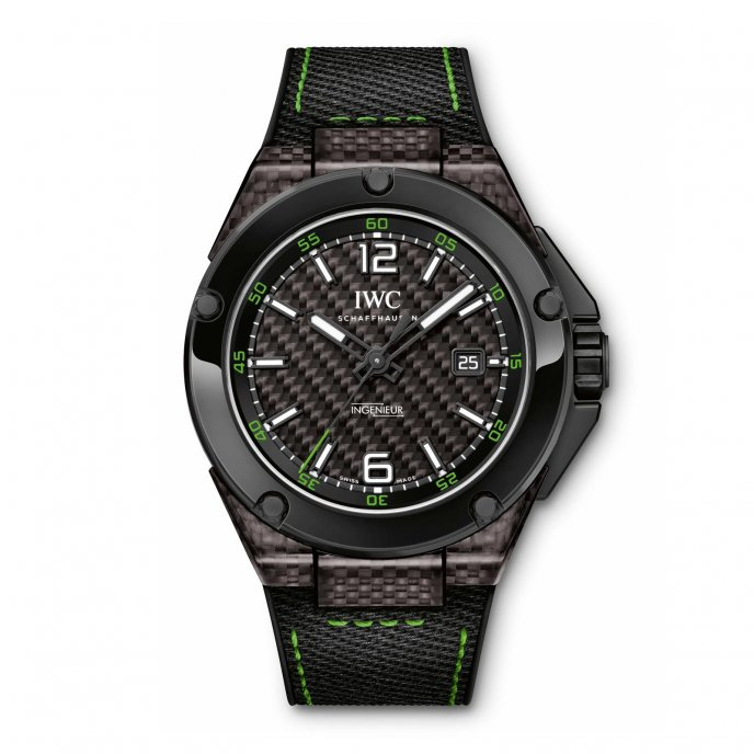 IWC Ingenieur Automatic Carbon Performance Ceramic IW322404 - watch face view