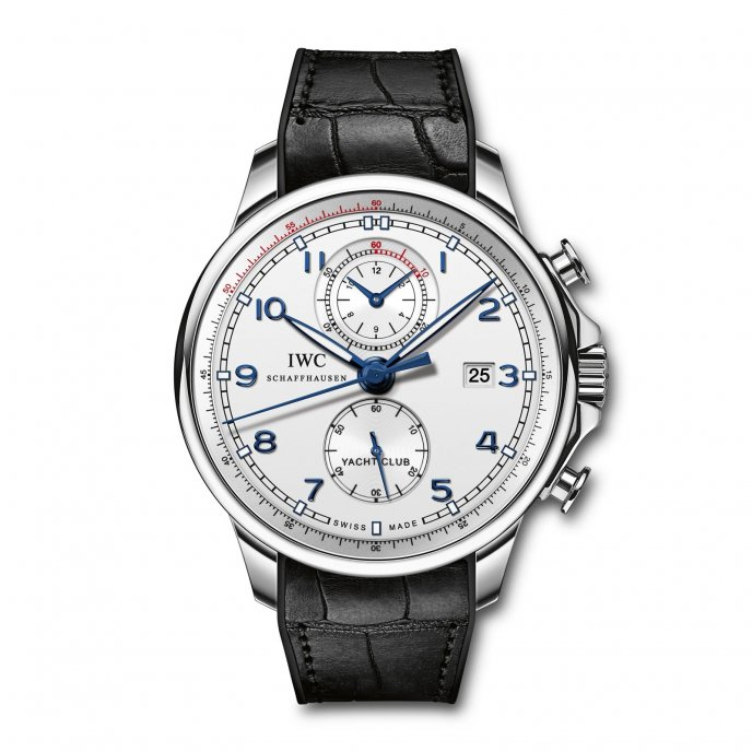 IWC Portuguese Yacht Club Chronographe Ocean Racer IW390216 watch face view