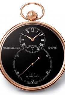 Pocket Watch Black Enamel