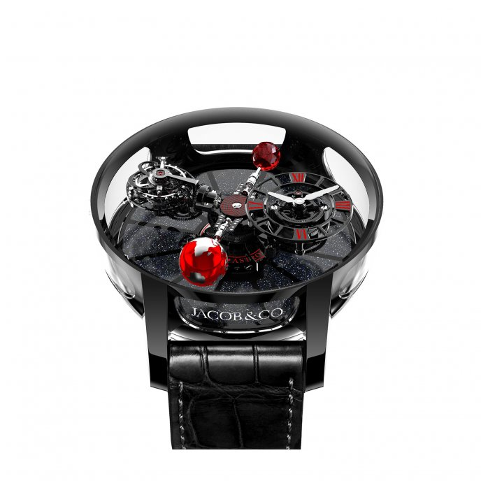 Astronomy Black Ceramic Black And Red Movement