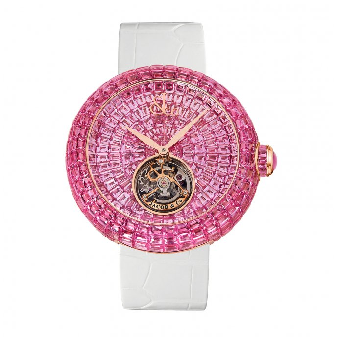 Brilliant Flying Tourbillon Pink Sapphires