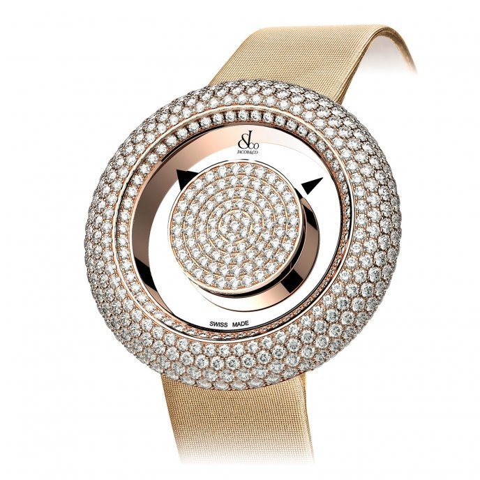Jacob & Co. Brilliant Mystery Pave Diamonds 210.526.40.RD.RD.3RD - watch face view