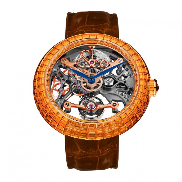 Jacob & Co Brilliant Skeleton Baguette 210.531.40.BO.CB.3BO - watch face view