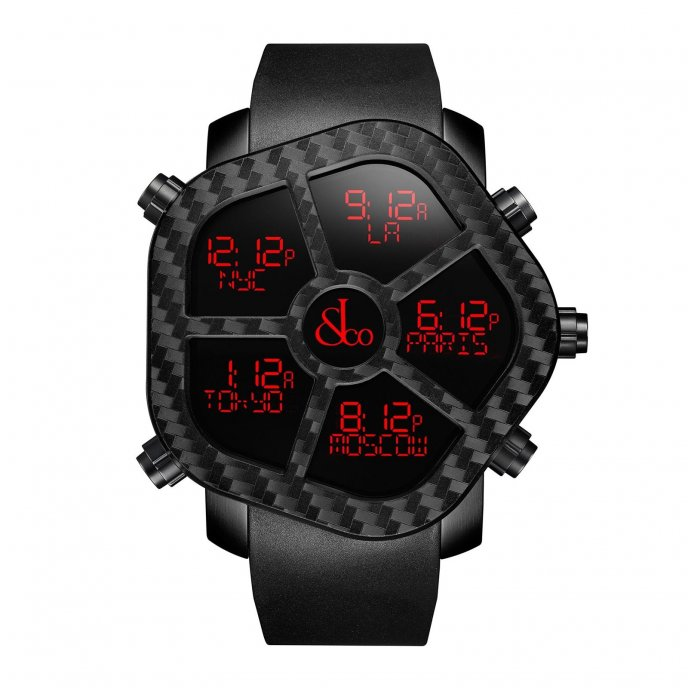 Jacob & Co. Ghost Carbon 300.100.11.NS.MC.4NS - watch face view