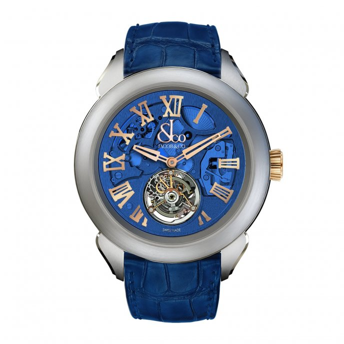 Jacob & Co. Palatial Tourbillon Hours & Minutes 150.520.24.NS.QB.1NS - watch face view