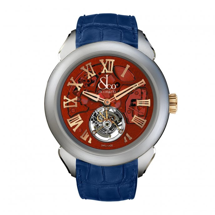 Jacob & Co. Palatial Tourbillon Hours & Minutes 150.520.24.NS.QR.1NS - watch face view