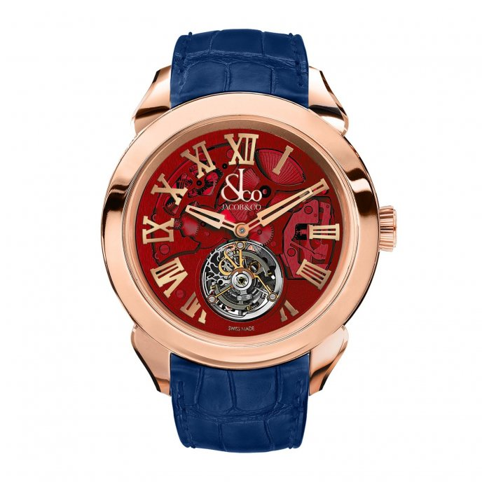 Jacob & Co. Palatial Tourbillon Hours & Minutes 150.520.40.NS.QR.1NS - watch face view