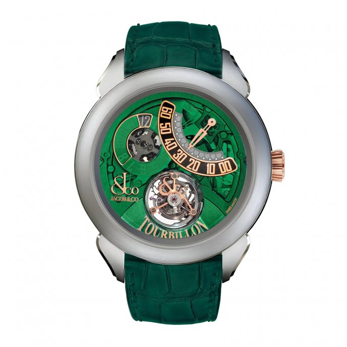 Jacob & Co. Palatial Tourbillon Jumping Hour 150.510.24.NS.PG.1NS - watch face view