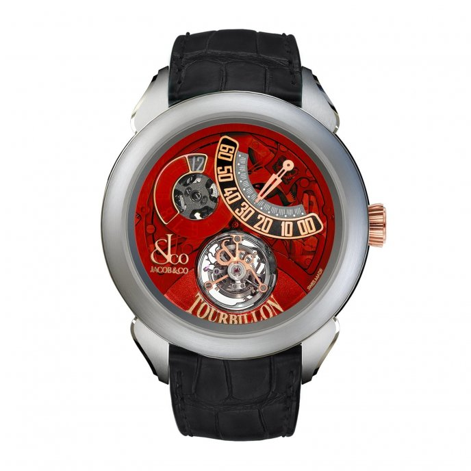 Jacob & Co. Palatial Tourbillon Jumping Hour 150.510.24.NS.PR.1NS - watch face view