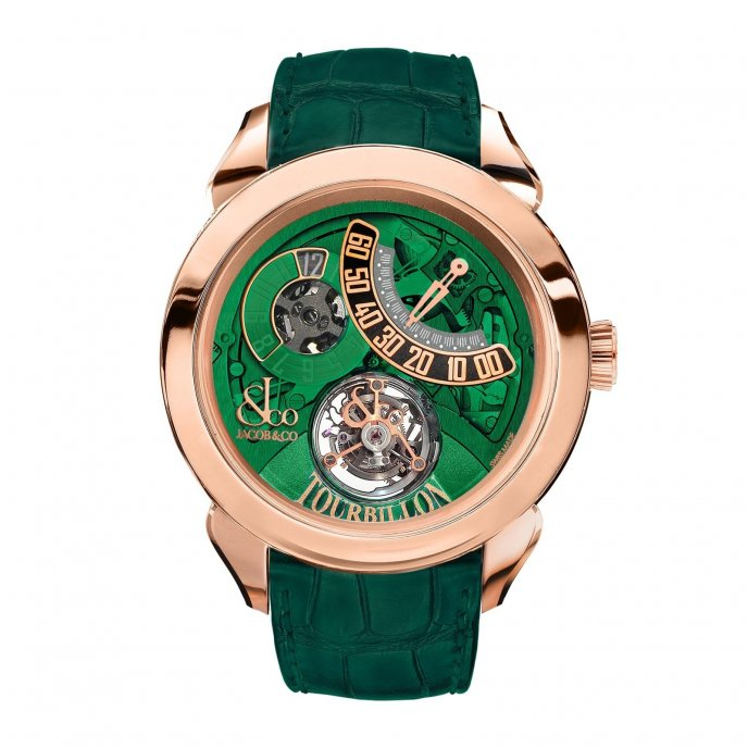 Jacob & Co. Palatial Tourbillon Jumping Hour 150.510.40.NS.PG.1NS - watch face view