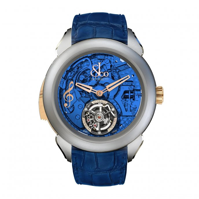 Jacob & Co Palatial Tourbillon Minute Repeater 150.500.24.NS.OB.1NS - watch face view