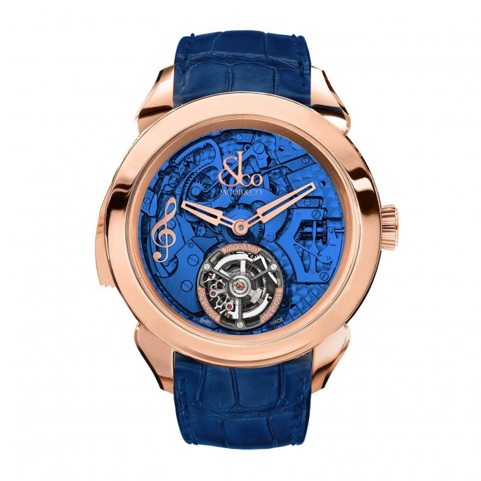 Jacob & Co Palatial Tourbillon Minute Repeater 150.500.40.NS.OB.1NS - watch face view