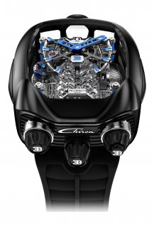 Bugatti Chiron 16 Cylinder Piston Engine Black