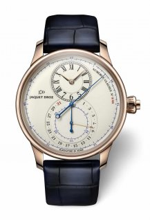 Grande Seconde Off-centered Chronograph  ivory enamel