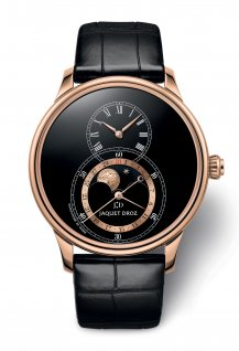 Grande Seconde Moon Black Enamel