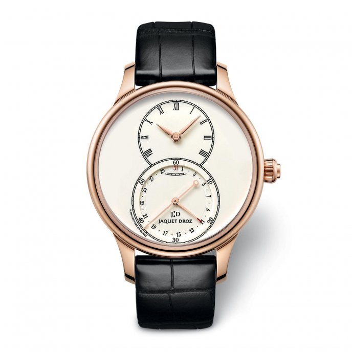 Jaquet Droz Grande Seconde Quantième Ivory Enamel J007013200 - watch face view