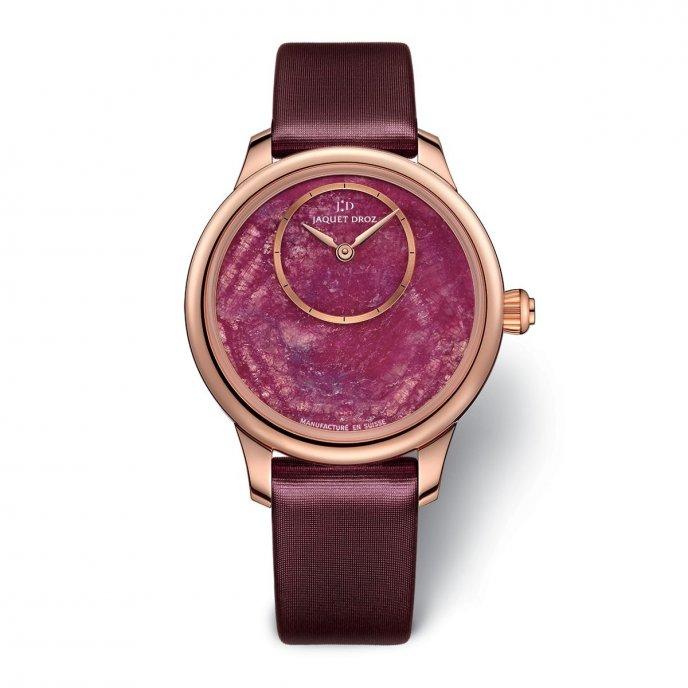 Jaquet Droz Petite Heure Minute 35 mm Ruby Heart J005003270 - watch face view