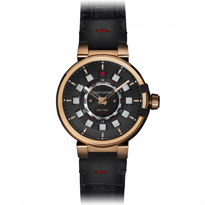 Louis Vuitton Tambour éVolution Spin Time GMT - watch face view