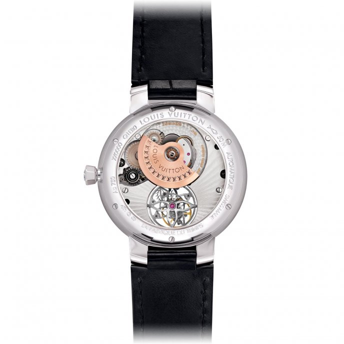 Louis Vuitton Tambour Monogram Tourbillon Q1EB00 -  watch back view