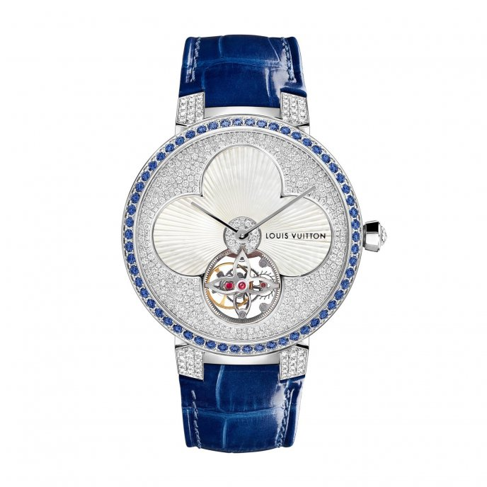 Louis Vuitton Tambour Monogram « Sun » Tourbillon - watch face view