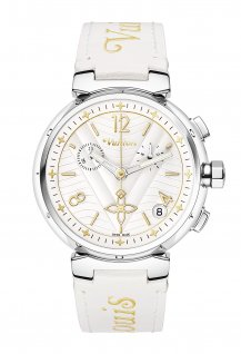 Tambour New Wave chronograph watch
