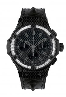 Carbon Bezel Baguette Diamonds