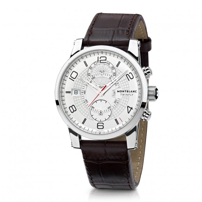 Montblanc - TimeWalker TwinFly Chronograph 109134 - face view