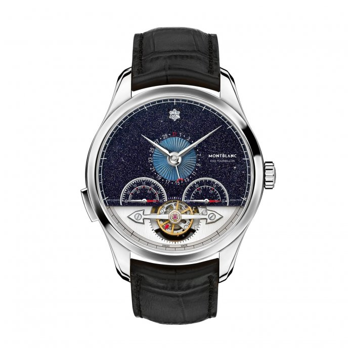 Montblanc Héritage Chronométrie ExoTourbillon Minute Chronograph Vasco da Gama Limited Edition 112649 watch face view