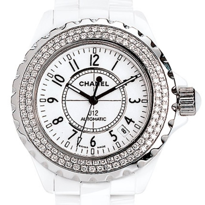 Chanel - J12 Céramique blanche sertie diamants