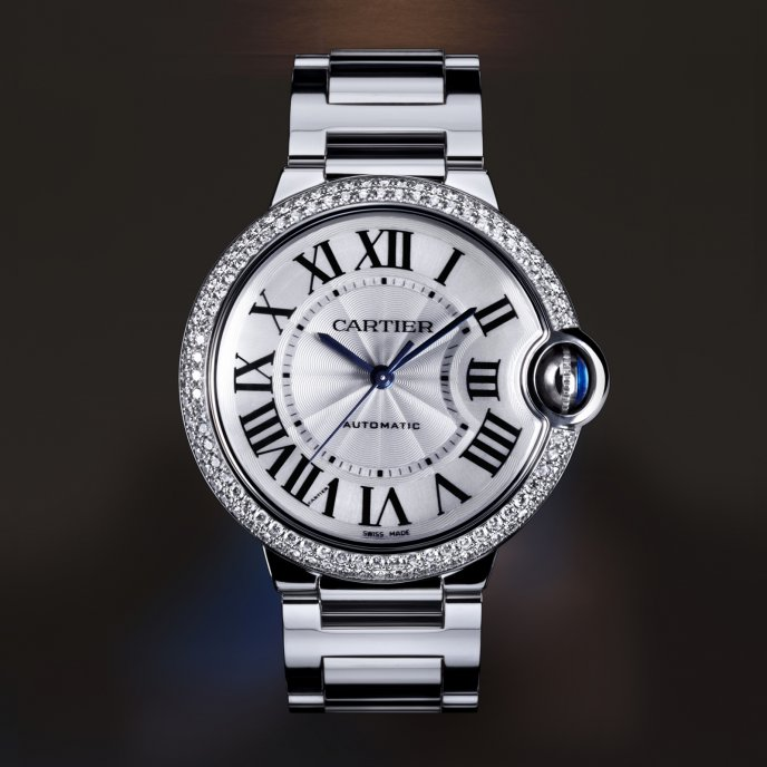 Cartier - Ballon Bleu de Cartier Moyen Modèle Or Gris Diamants