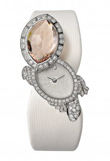 Montre Tortue secrète de Cartier watch, morganite version
