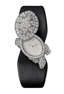 Tortue secrète de Cartier watch, diamond-paved version