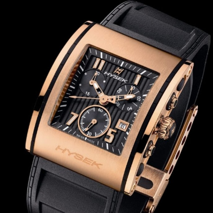 Hysek - Chronographe or rose