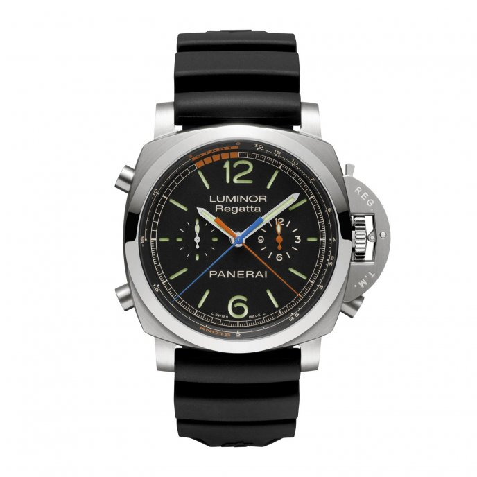 Panerai Luminor 1950 Regatta 3 Days Chrono Flyback Automatic Titanio PAM00526 - watch face view